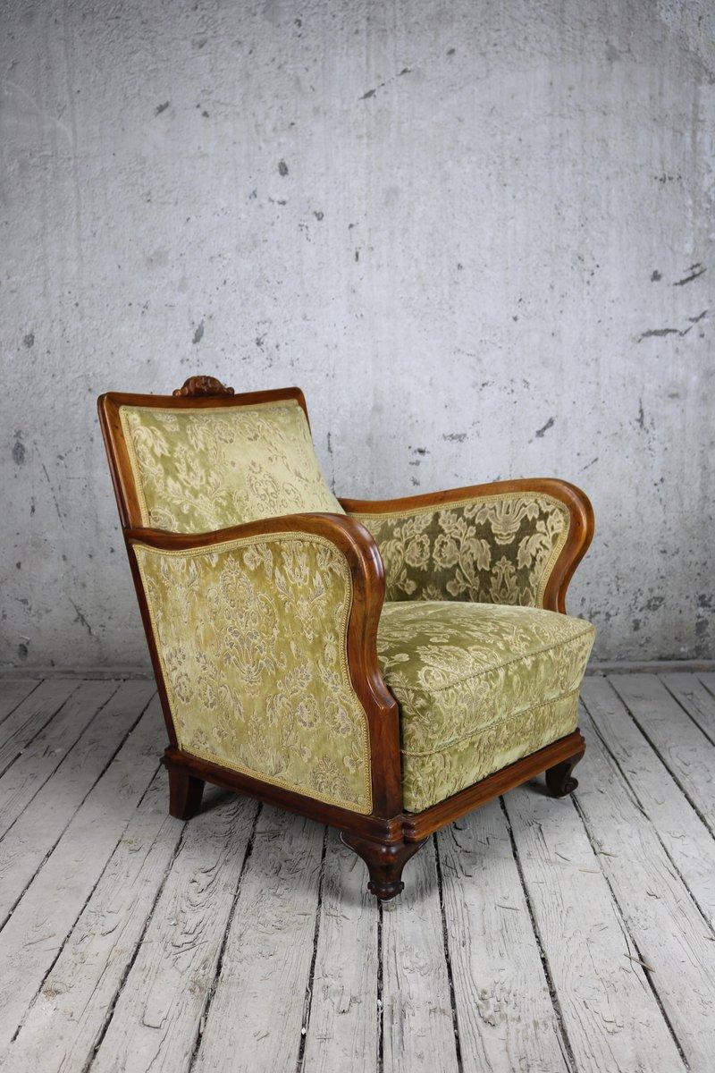 Antike ungarische Sessel mit Gestell aus Obstholz, 2er Set