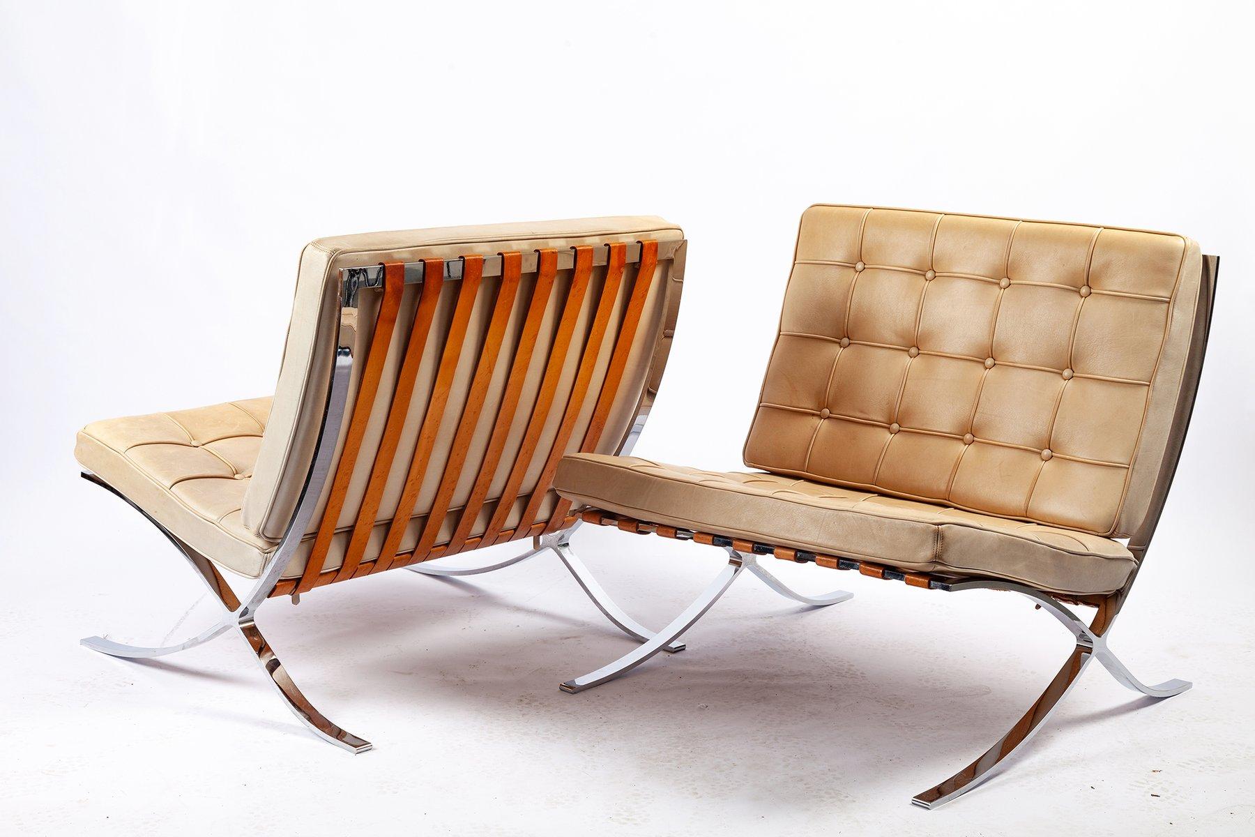 Barcelona Stühle Von Ludwig Mies Van Der Rohe Für Knoll