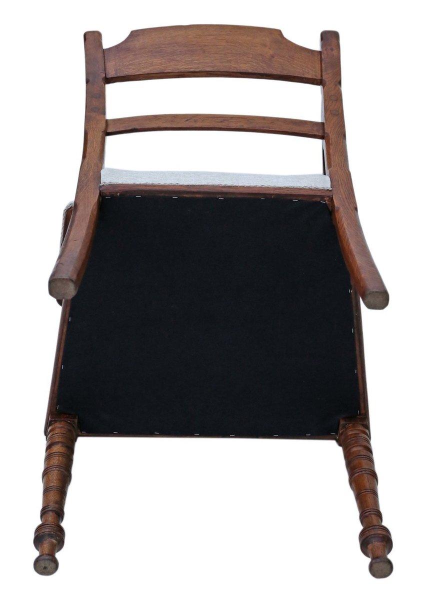 Sedia da scrivania vittoriana antica in quercia, fine XIX ...