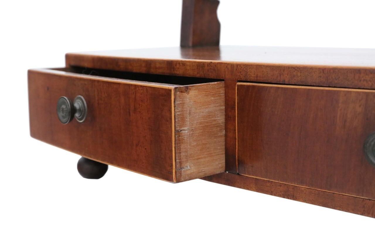 miroir poser pivotant regency antique en acajou 1825 en. Black Bedroom Furniture Sets. Home Design Ideas