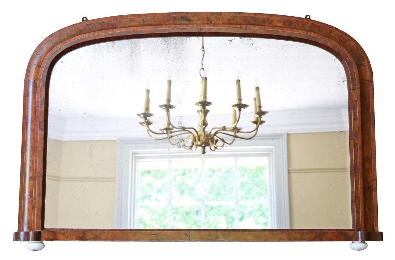antiker viktorianischer wandspiegel mit rahmen aus. Black Bedroom Furniture Sets. Home Design Ideas
