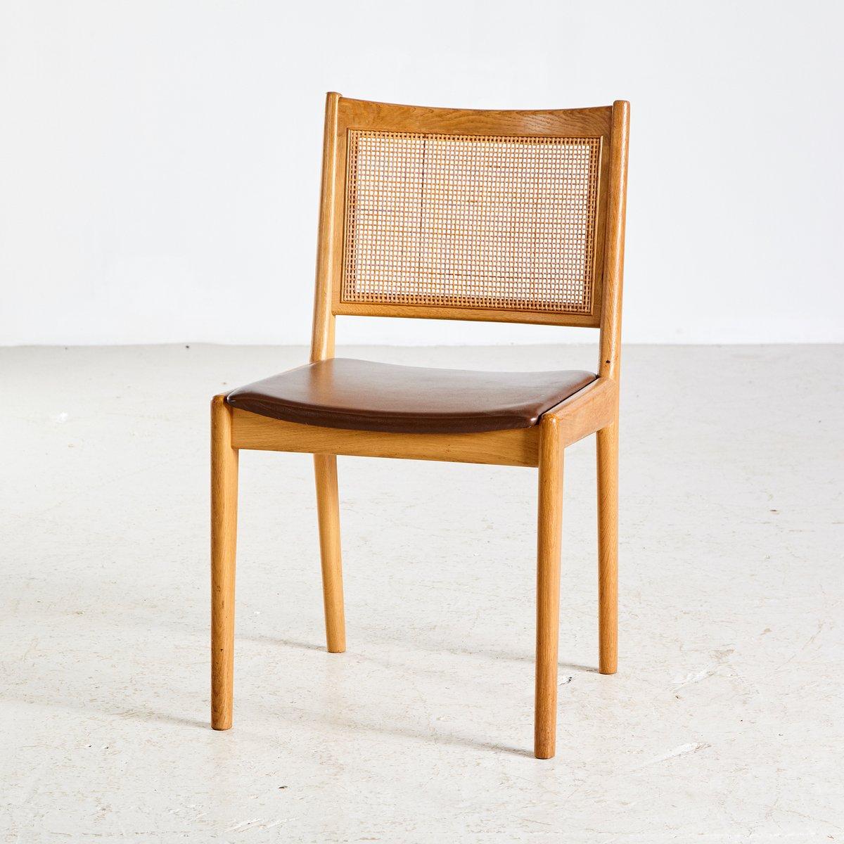 st hle mit geflochtener lehne von karl erik ekselius f r j. Black Bedroom Furniture Sets. Home Design Ideas