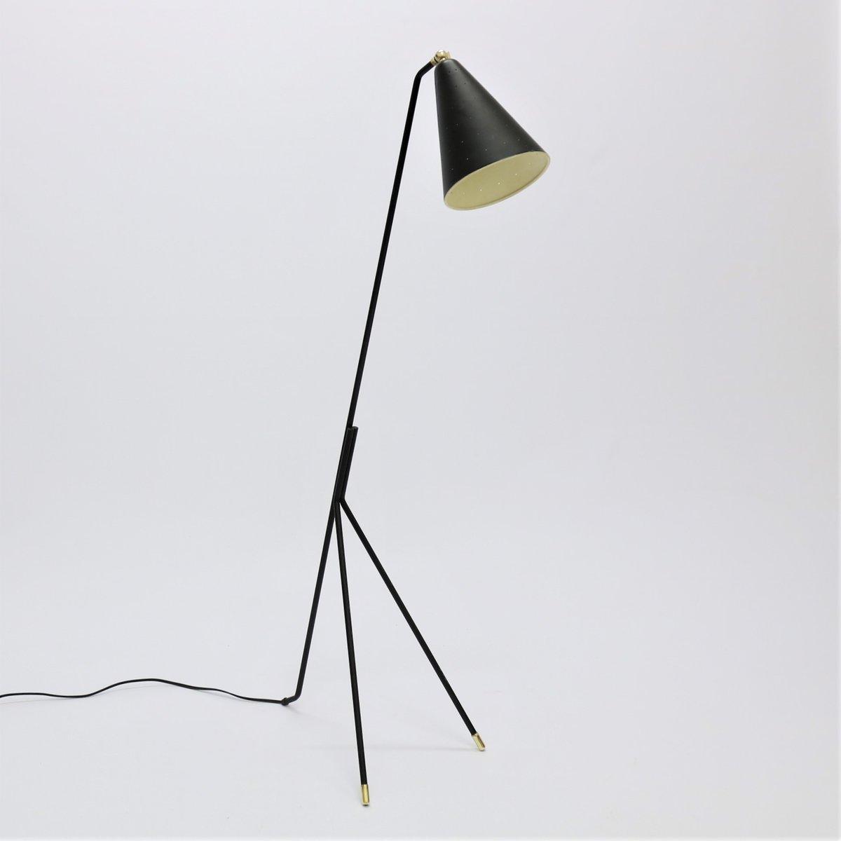 Moderne Mid-Century Stehlampe von Svend Aage Holm Sorensen, 1950er