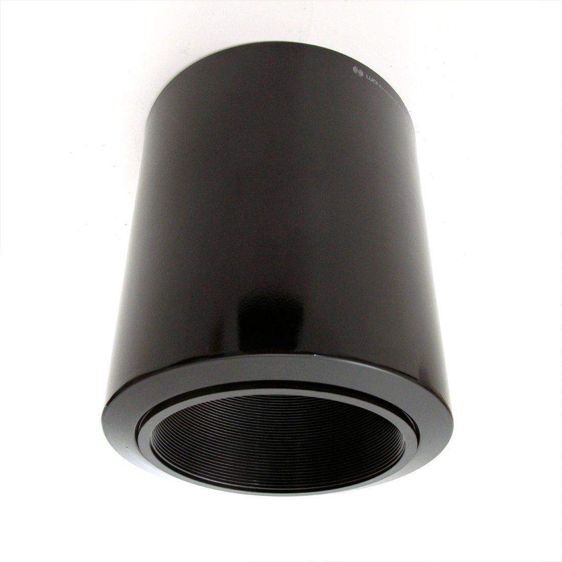 Schwarze Deckenlampe von Luci Italia, 1980er, 2er Set