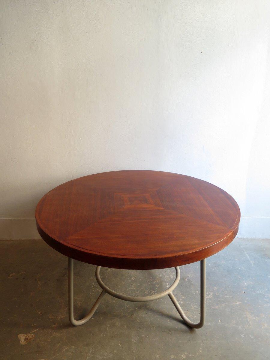 Gro Er Runder Tisch Aus Holz Metall Bei Pamono Kaufen