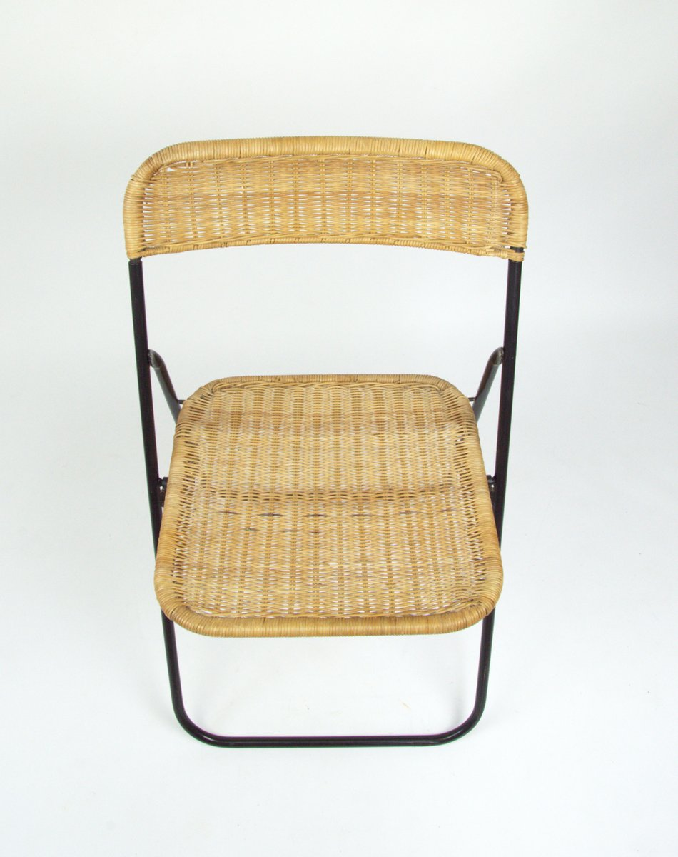 Vintage Wicker Folding Chair 1970s For Sale At Pamono