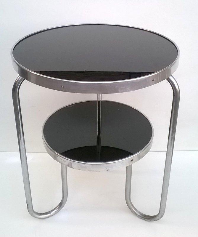 runder tisch von marcel breuer f r columbus 1930er bei. Black Bedroom Furniture Sets. Home Design Ideas