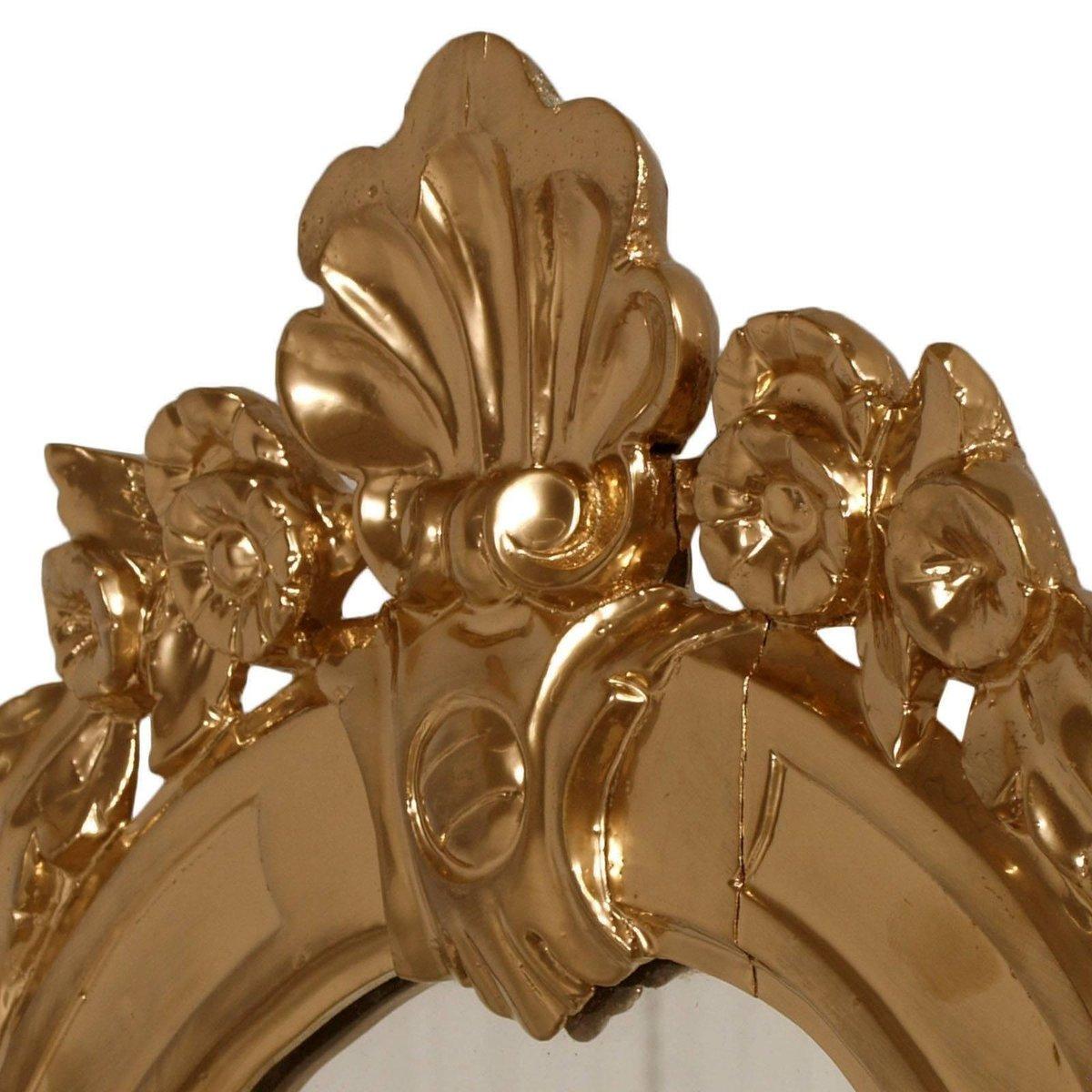 barocker wandspiegel mit goldenem rahmen aus. Black Bedroom Furniture Sets. Home Design Ideas