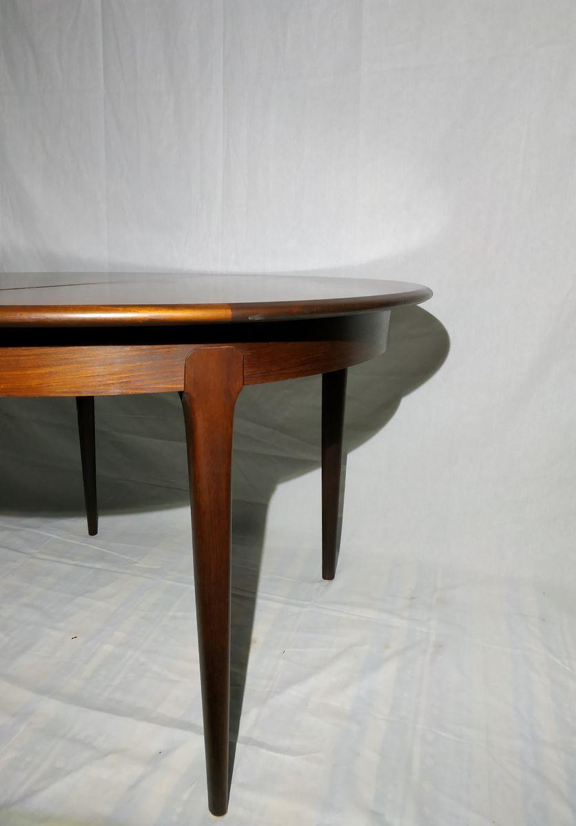 table de salle manger scandinave en palissandre 1960s. Black Bedroom Furniture Sets. Home Design Ideas