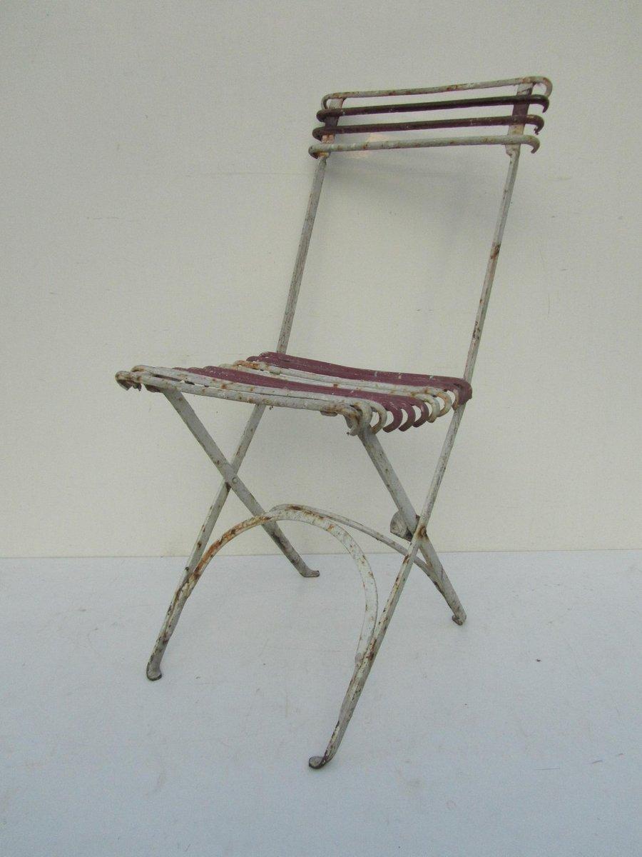 Chaise de jardin pliante antique en fer forg en vente sur pamono - Chaise de jardin en fer forge ...