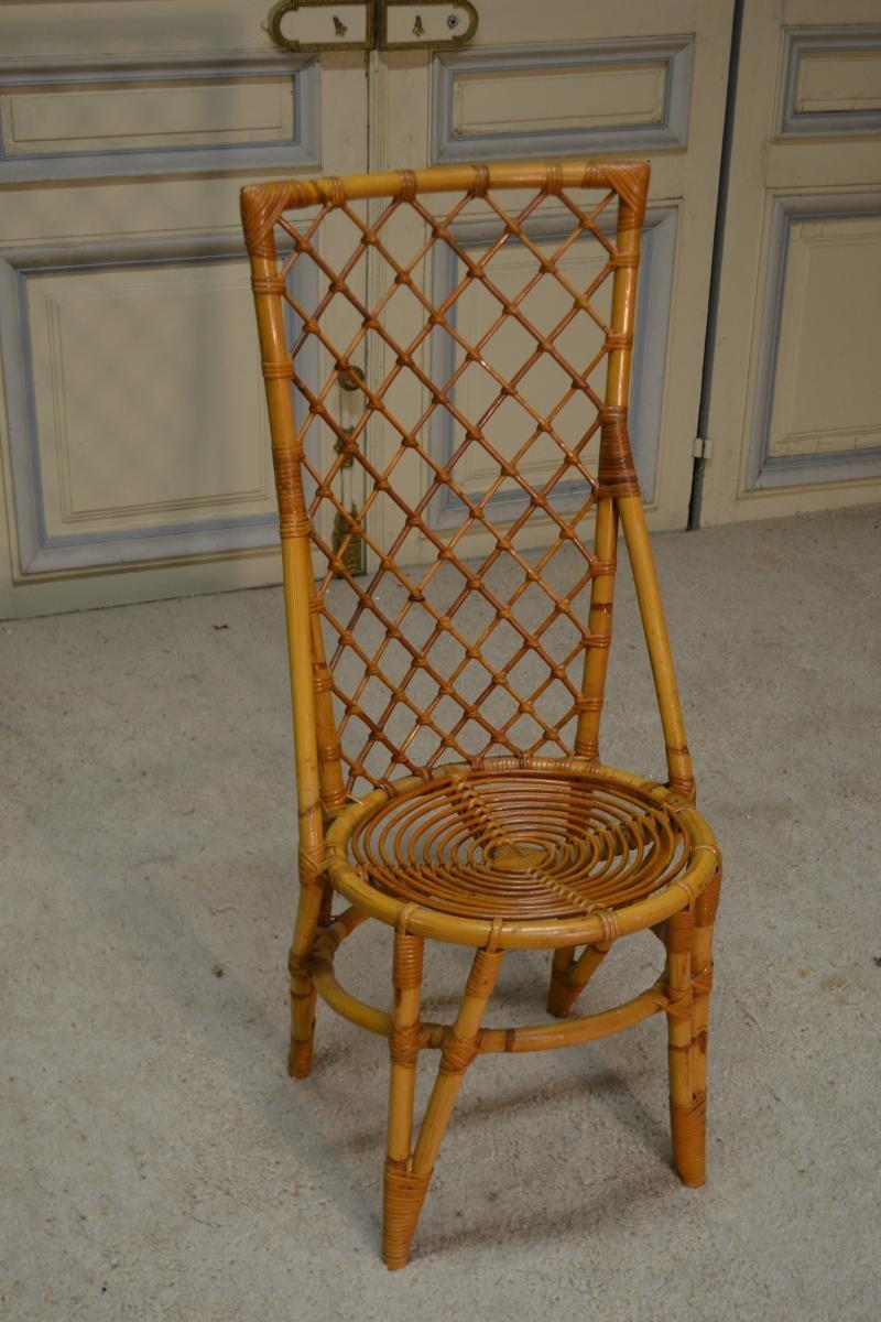 Sedia in vimini anni 39 70 in vendita su pamono for Sedia design anni 70