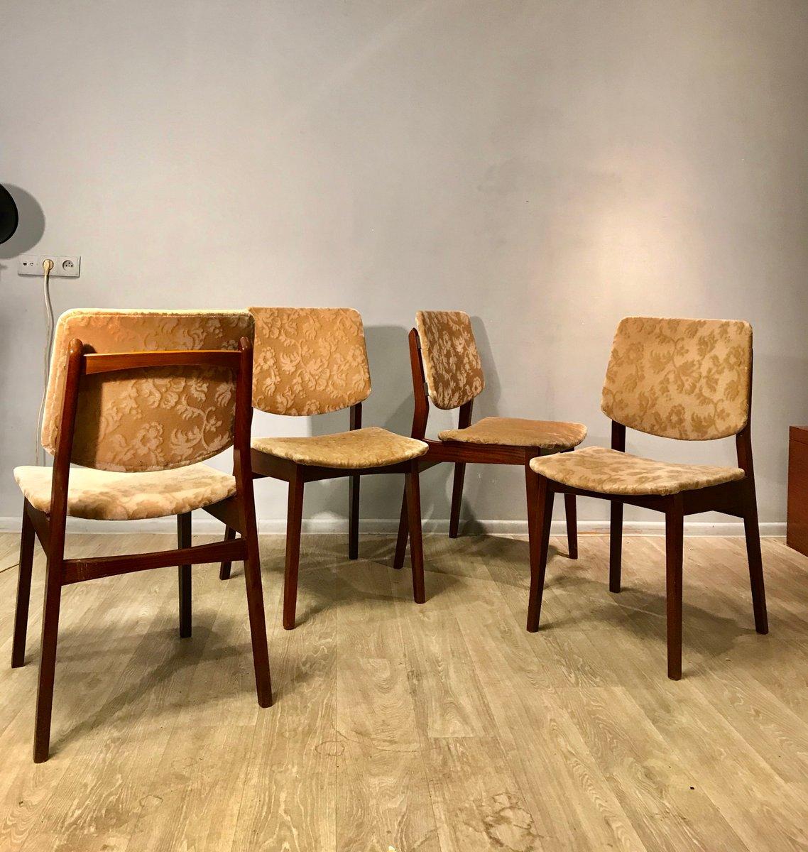 Schwedische Vintage Stühle 1960er 4er Set Bei Pamono Kaufen