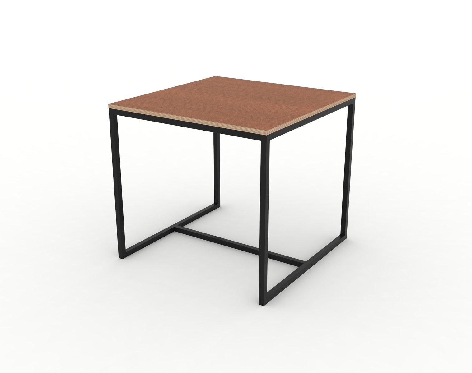 petite table de salle manger s rie underline en merisier lamin plaqu sur cadre en acier de. Black Bedroom Furniture Sets. Home Design Ideas