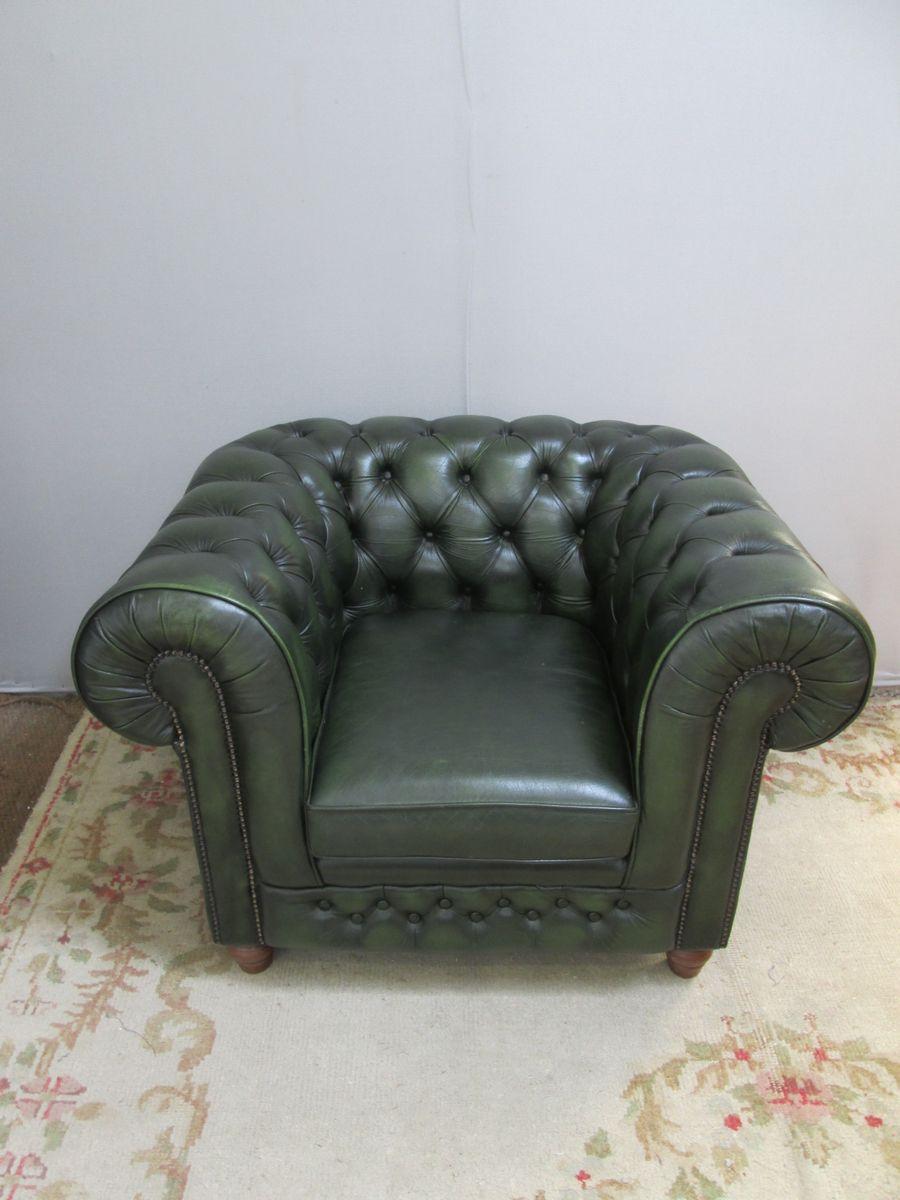 Vintage Chesterfield Ledersessel