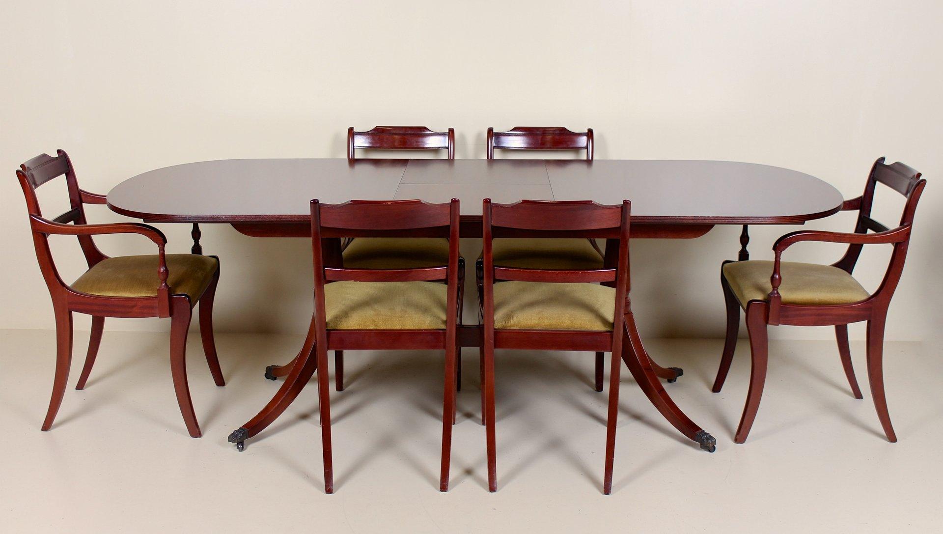 Vintage Set aus Esstisch & 6 Stühlen von Greaves & Thomas