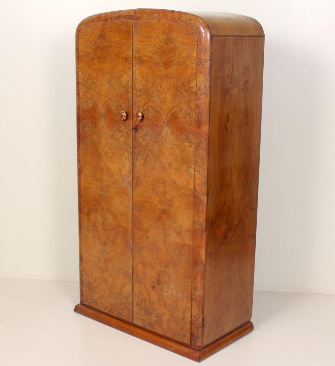 Art Deco Compactum Kleiderschrank aus Nussholz, 1930er