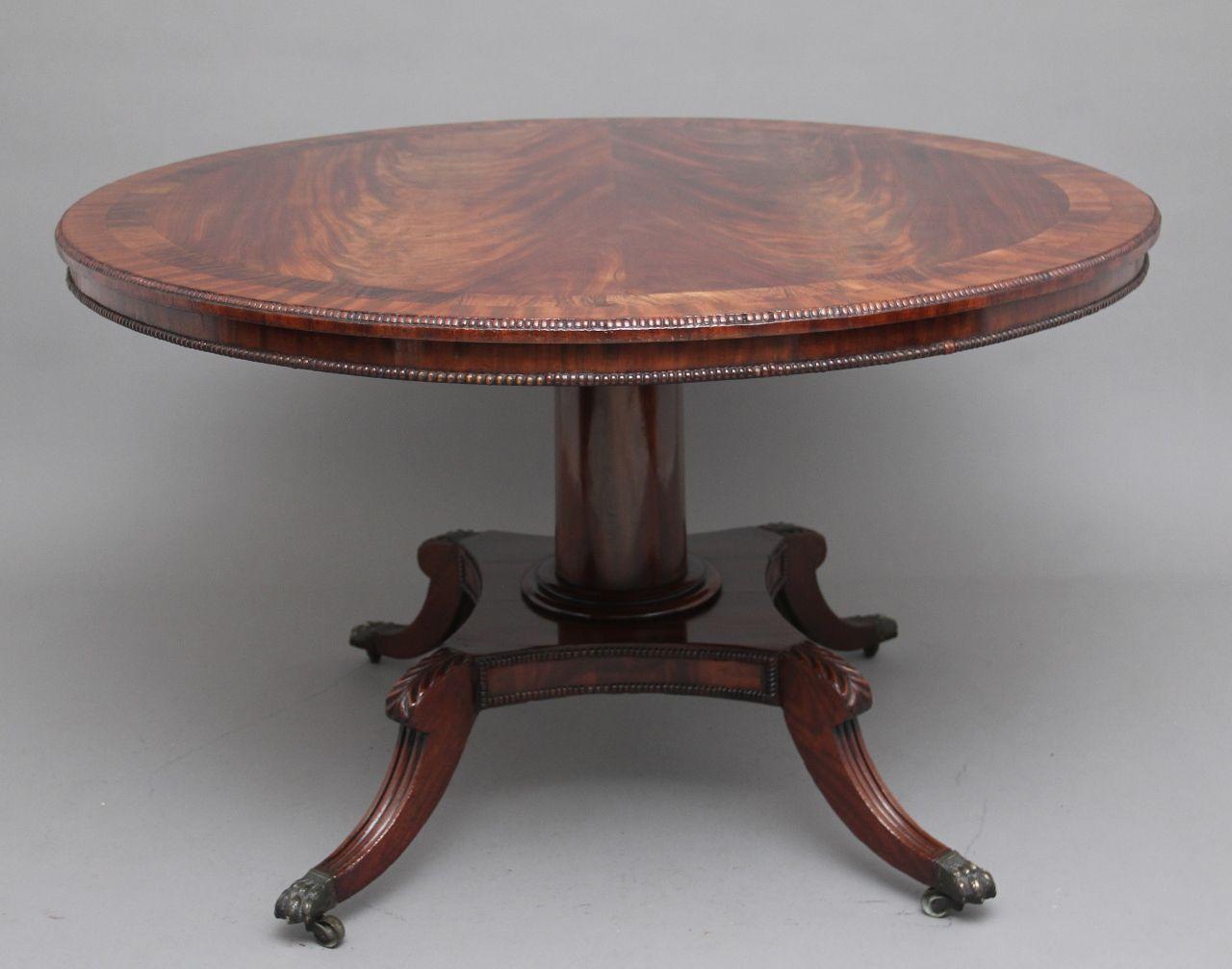 Early 19th Century Flame Mahogany Breakfast Table