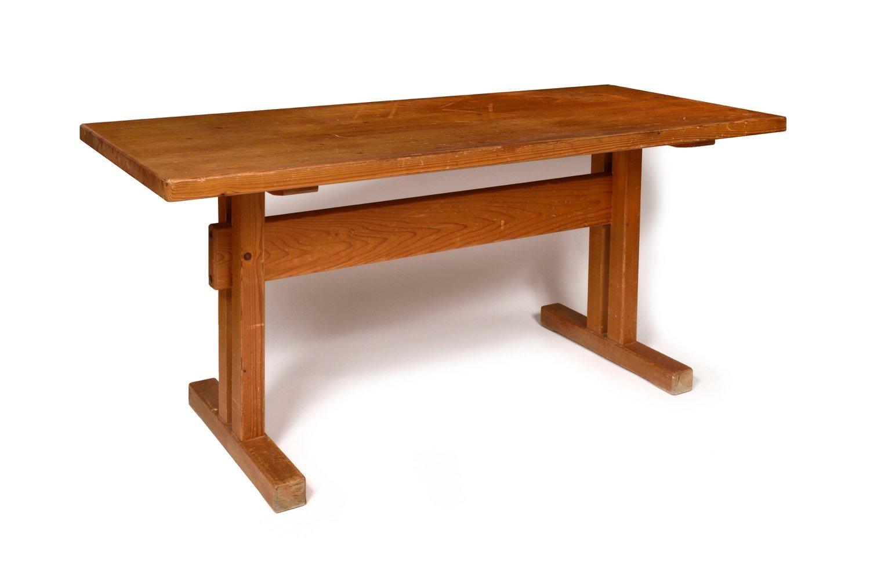 table et banc par charlotte perriand pour les arcs 1960s. Black Bedroom Furniture Sets. Home Design Ideas