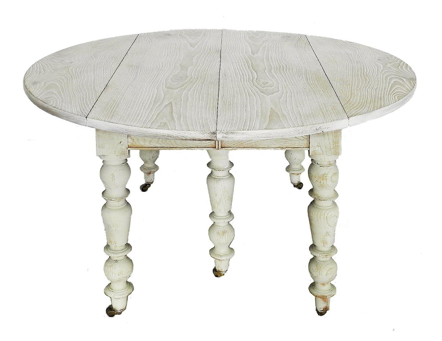 19th-Century French Oak Drop-Leaf Extending Dining Table, 1850s