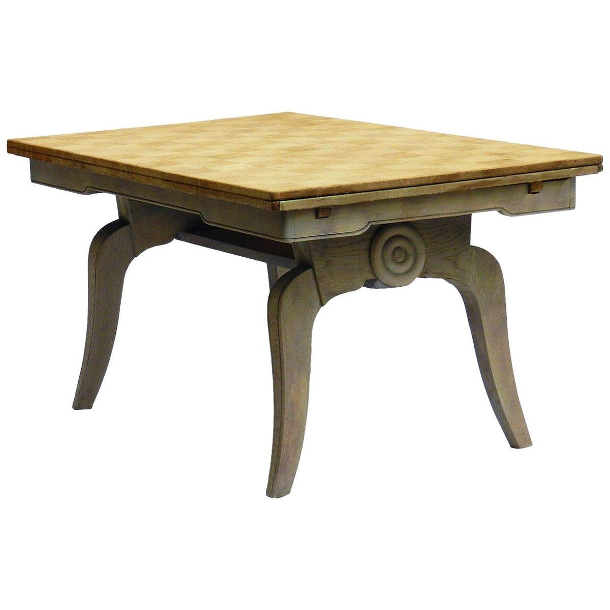 Mid-Century Oak Extendable Dining Table