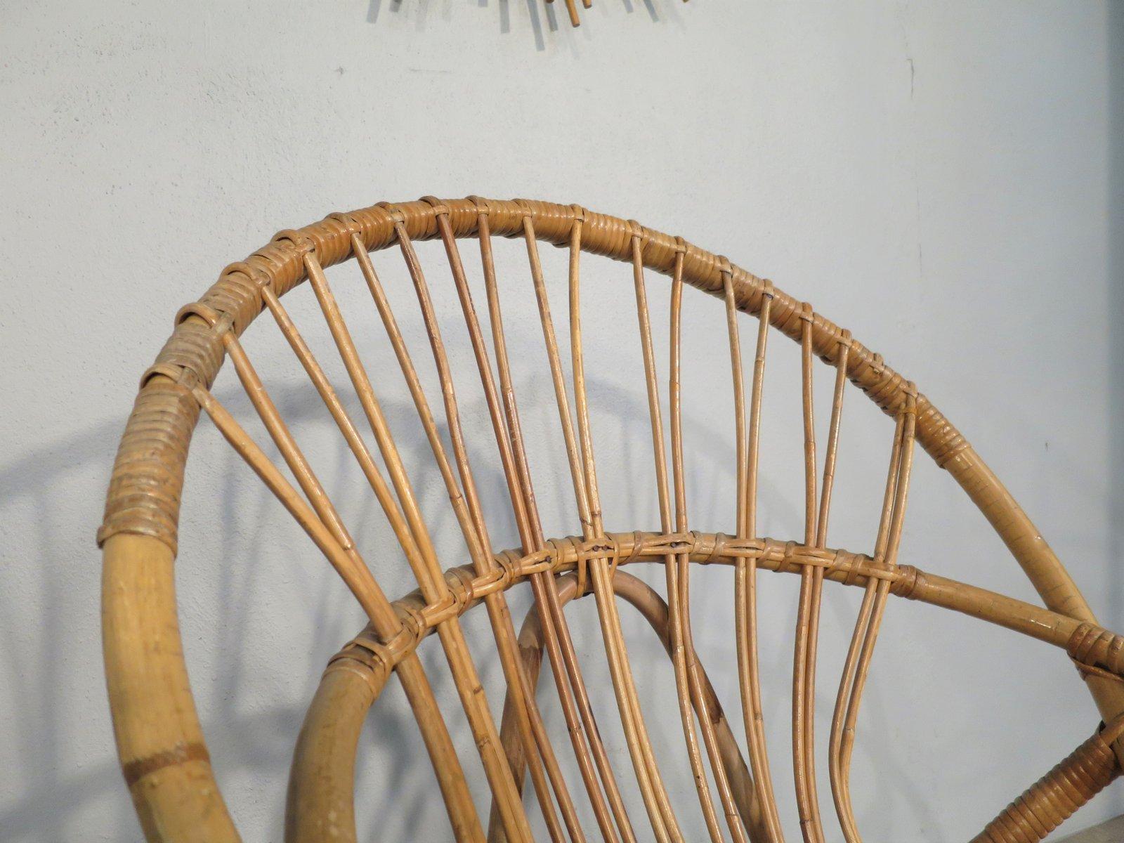 chaise d 39 appoint en rotin et en m tal 1950s en vente sur. Black Bedroom Furniture Sets. Home Design Ideas
