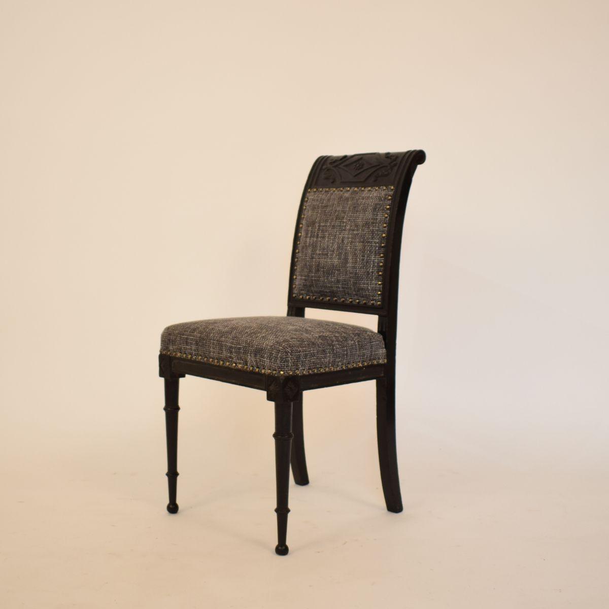 chaise d 39 appoint en eb ne fin 19 me si cle france en. Black Bedroom Furniture Sets. Home Design Ideas
