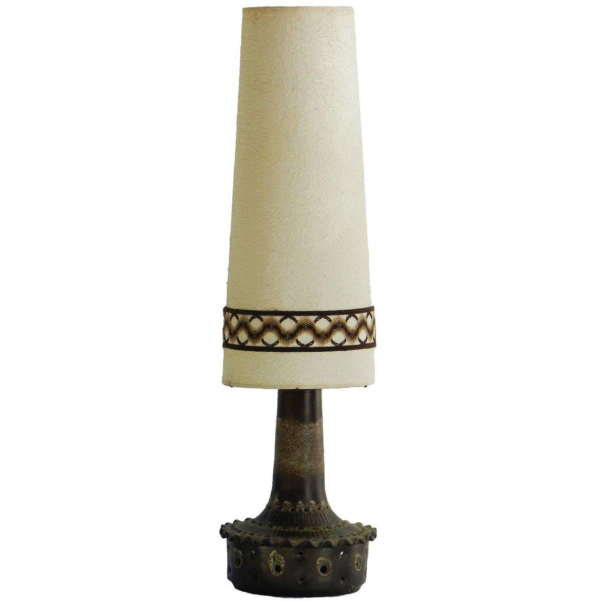 Große deutsche Mid-Century Lava Keramiklampe