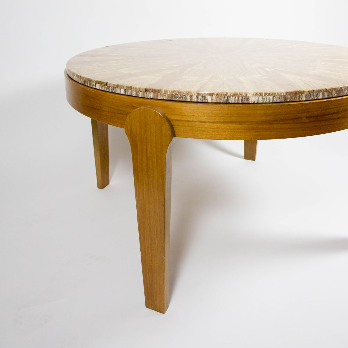 table basse ronde avec dessus en pierre 1970s en vente. Black Bedroom Furniture Sets. Home Design Ideas