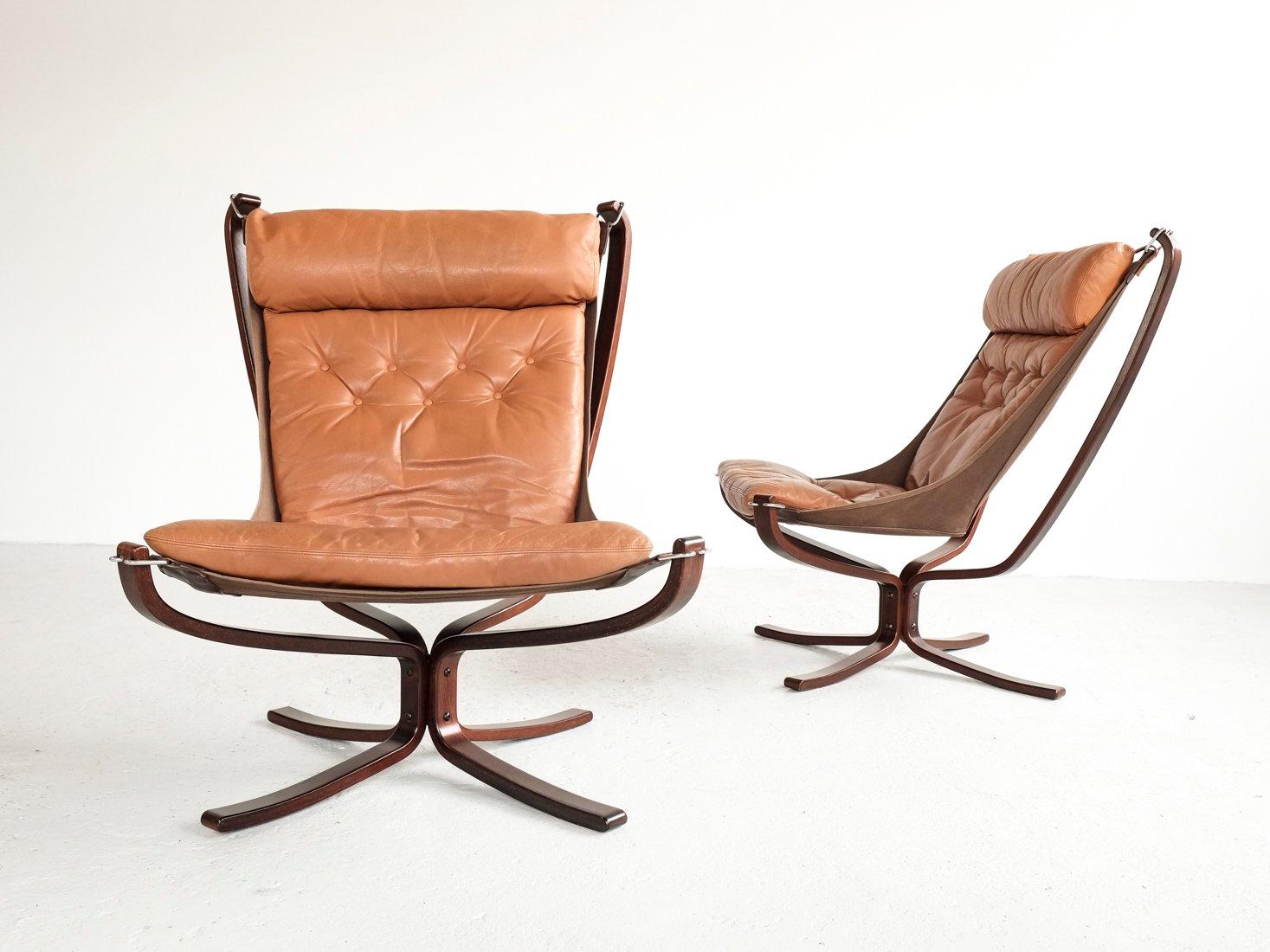 falcon sessel mit hoher r ckenlehne von sigurd resell f r. Black Bedroom Furniture Sets. Home Design Ideas