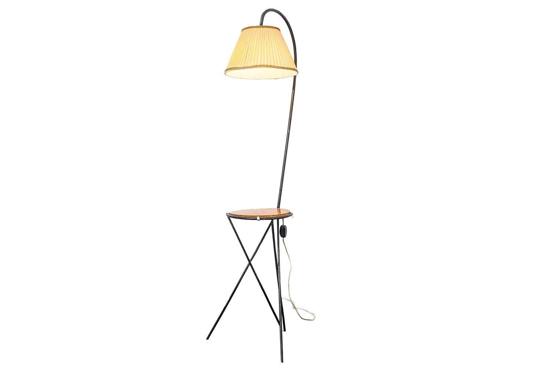 mid century stehlampe mit tisch 1950er bei pamono kaufen. Black Bedroom Furniture Sets. Home Design Ideas