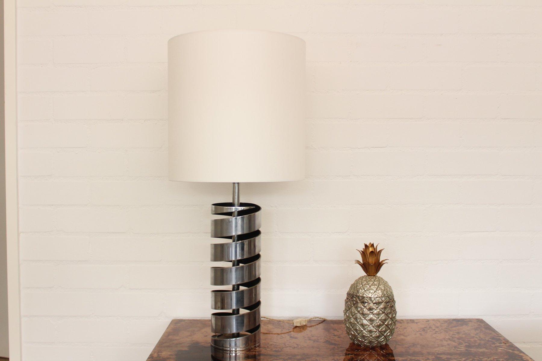 Tischlampe aus Chrom von Jacques Charpentier, 1960er
