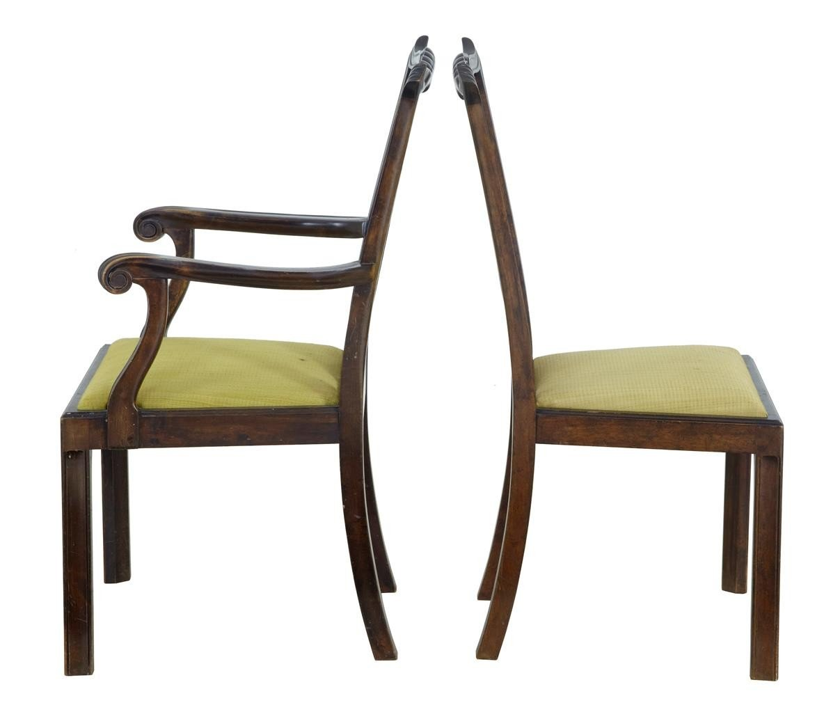 Salle A Manger Antique: Set De Chaises De Salle à Manger Chippendale Antique En