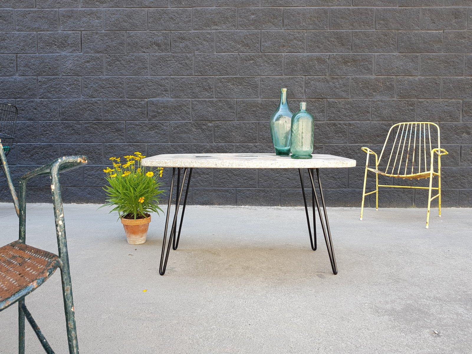 Vintage gartentisch aus stein marmor 1960er bei pamono for Gartentisch marmor