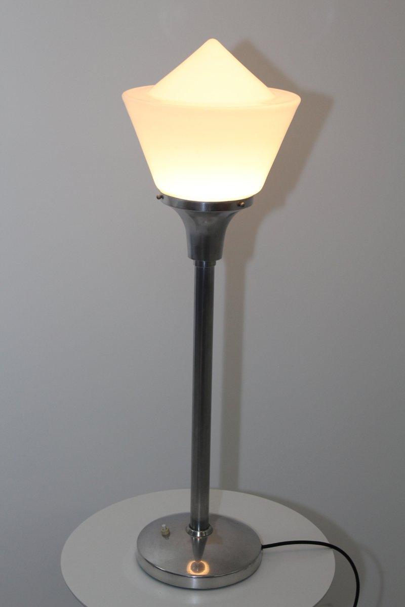Pair of 1980/'s table lamps Ceramic signed GH Monolith Art Deco Design