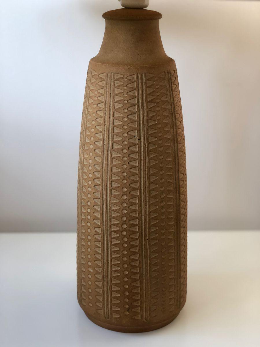 Tischlampe mit Keramikfuß von Soholm, 1960er
