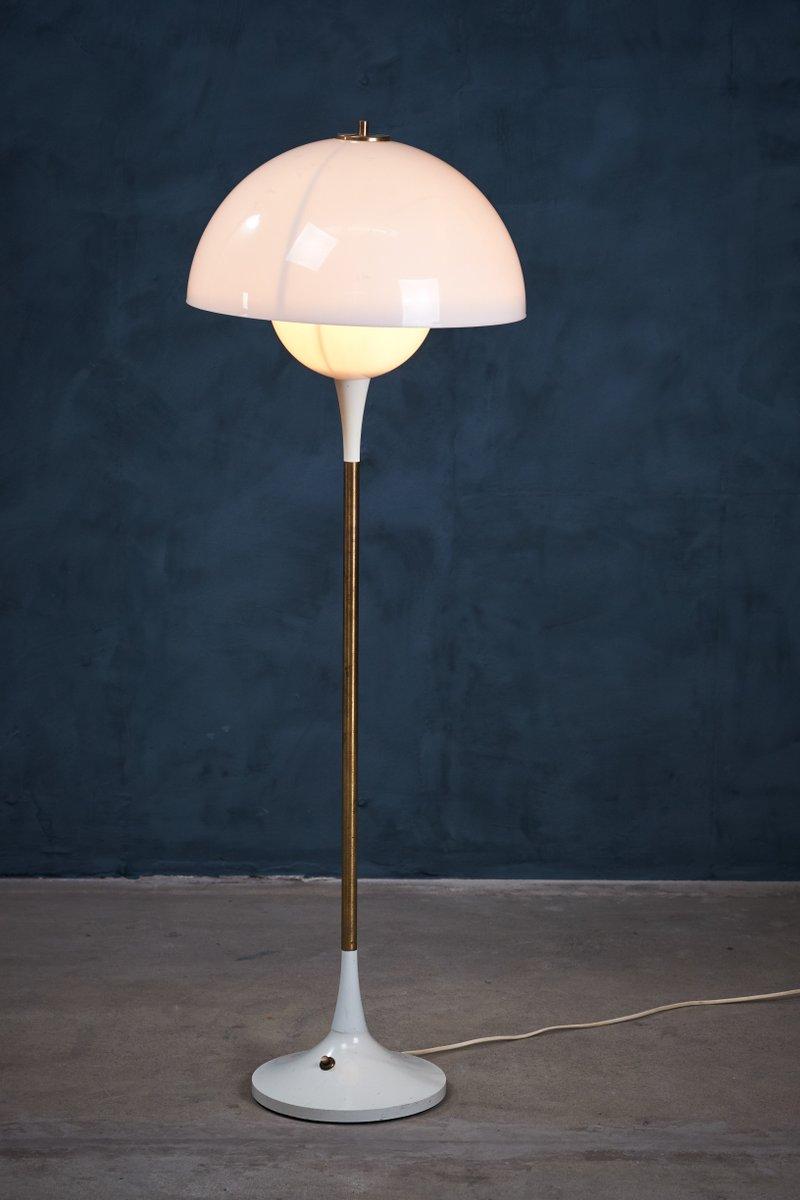 Danish Brass and Metal Floor Lamp from Lyfa, 1960s