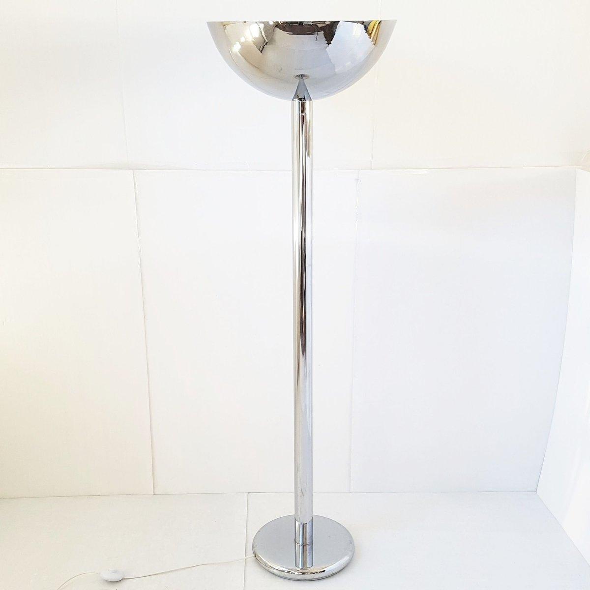 Vintage Chrome Plated Floor Lamp, 1970s