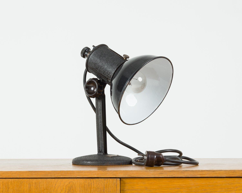 Tischlampe aus Stahl, 1930er