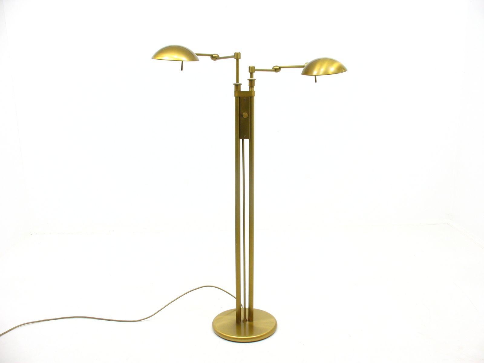 Double-Light Floor Lamp from Holtkoetter, 1980s