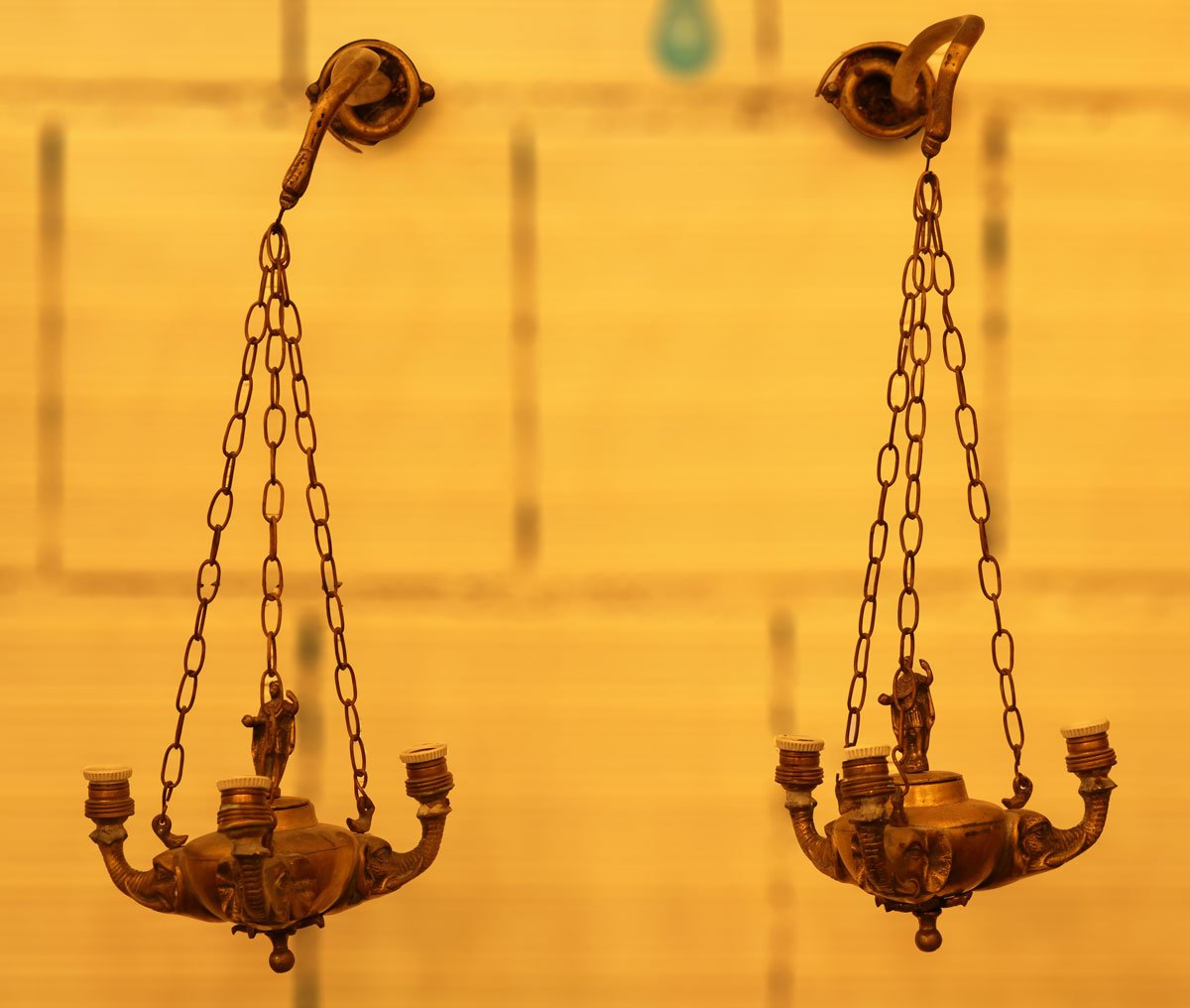 Antike italienische Wandlampen, 2er Set