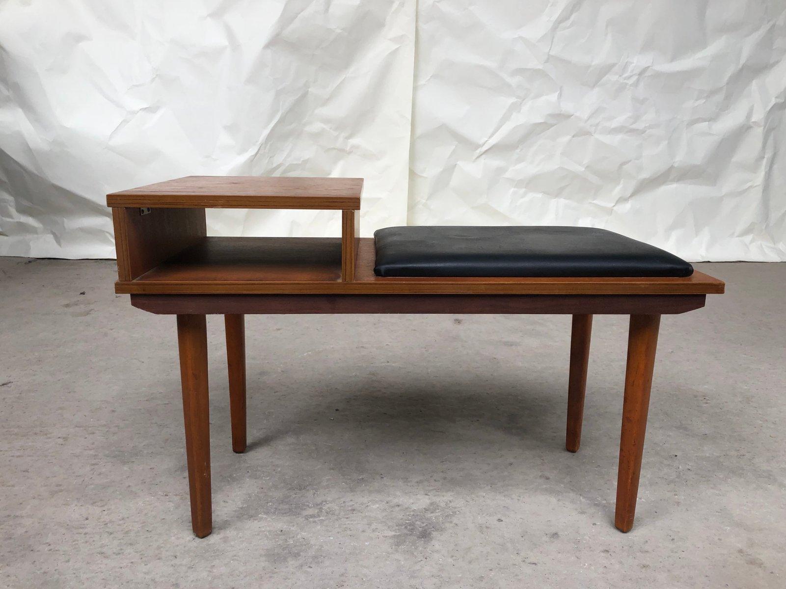 Mid-Century Telefonsitz aus Teak, 1970er