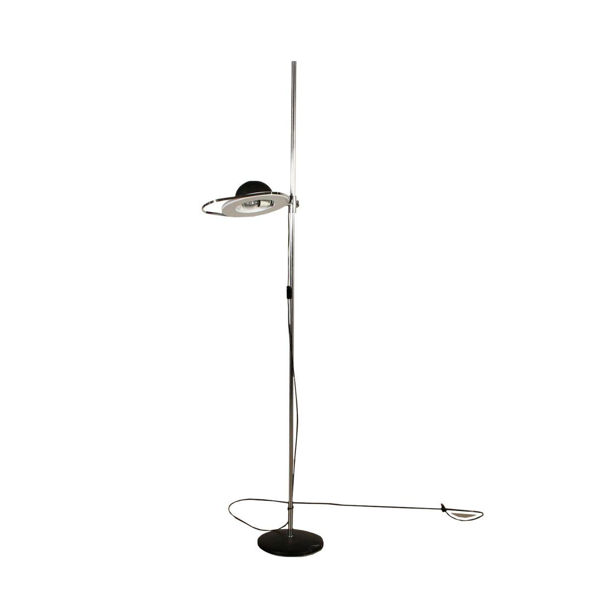Vintage Lacquered Aluminium & Chromed Metal Floor Lamp, 1960s