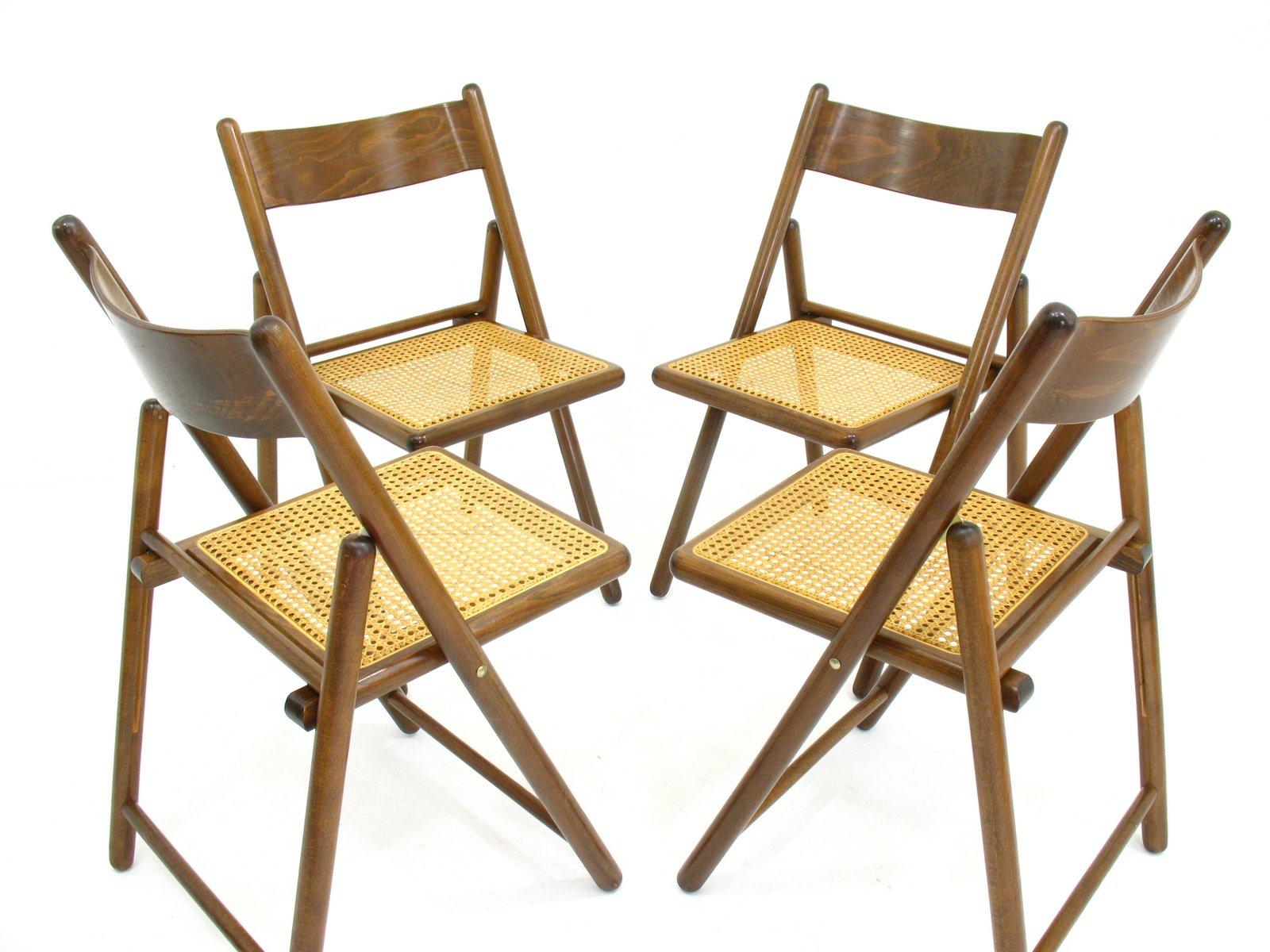Sedie pieghevoli anni 39 80 set di 4 in vendita su pamono for Sedie design anni 20