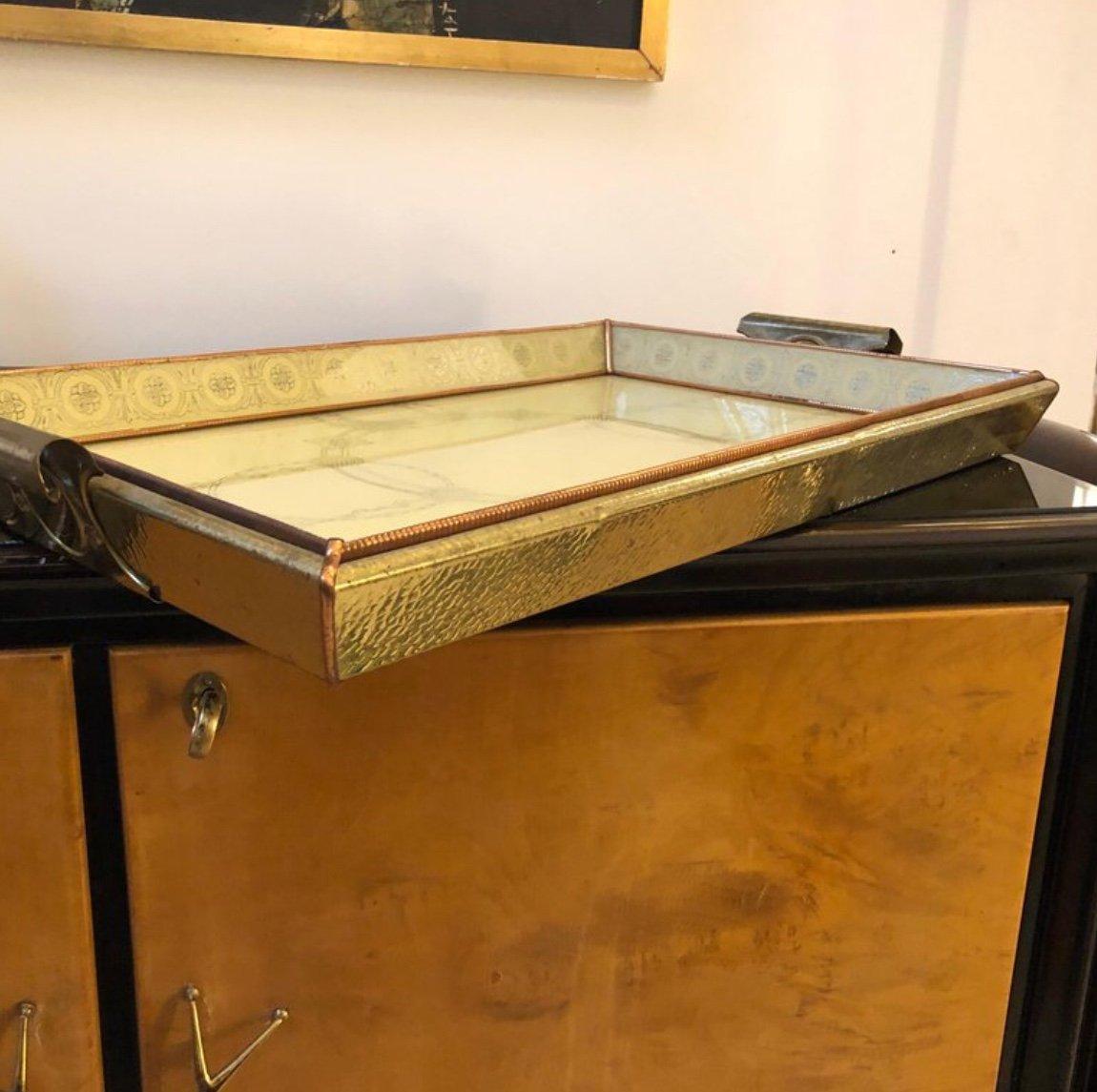 Vassoio da portata mid century in rame e ottone di mb italia anni 39 50 in vendita su pamono - Vassoio da portata ...