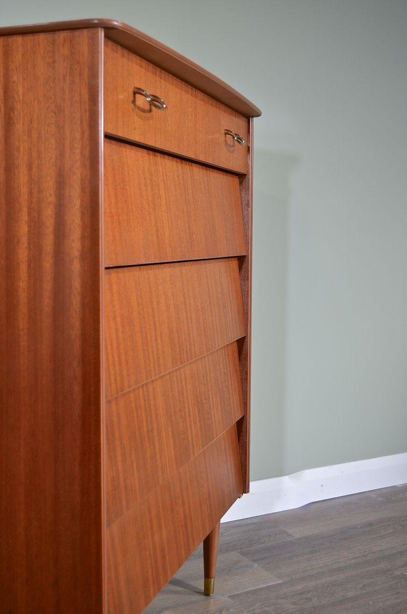 mid century kommode aus teak messing von avalon bei. Black Bedroom Furniture Sets. Home Design Ideas