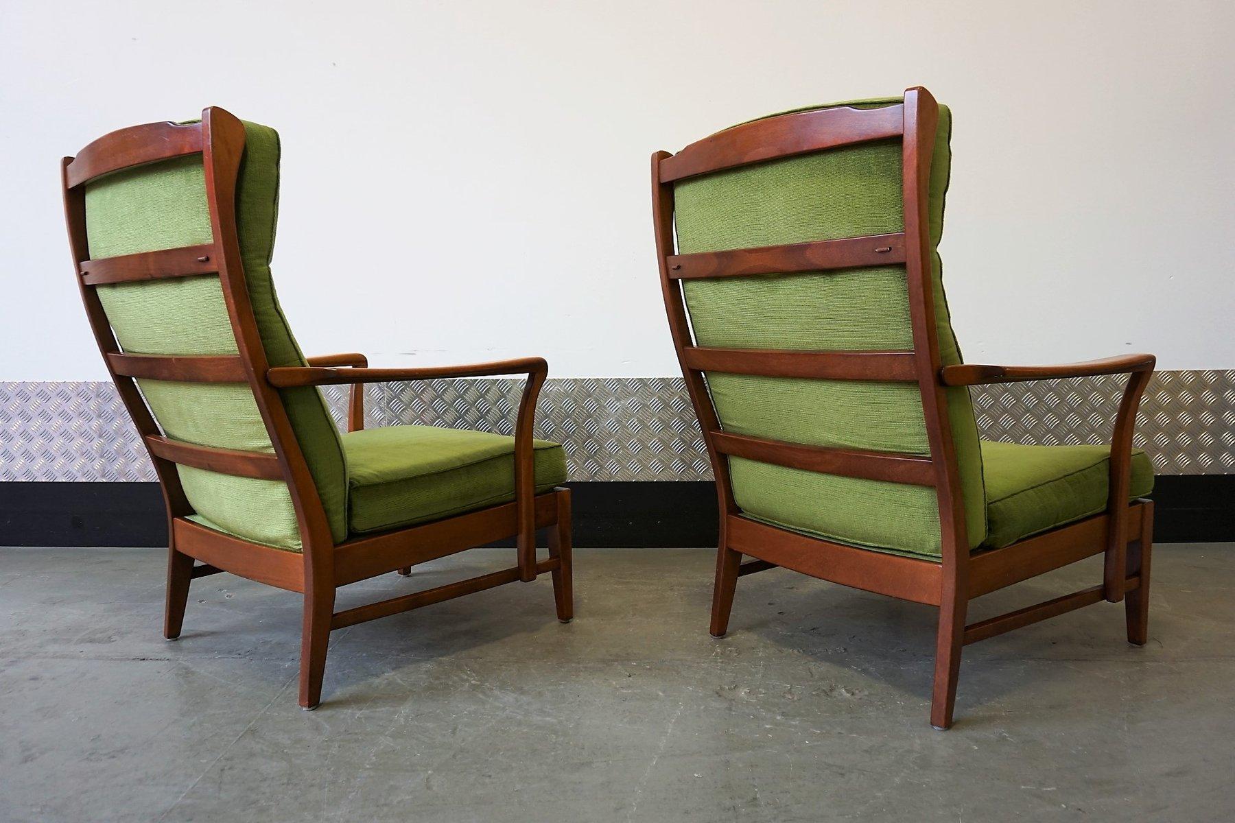 schwedische mid century sessel mit hoher r ckenlehne. Black Bedroom Furniture Sets. Home Design Ideas