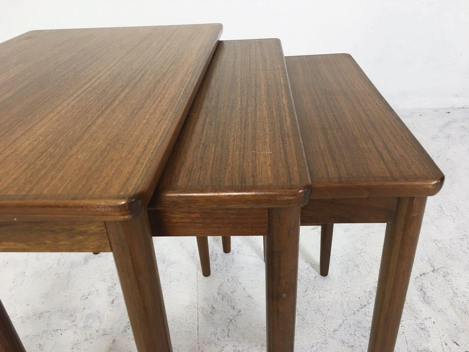 tavolini ad incastro mid century in noce di opal m bel. Black Bedroom Furniture Sets. Home Design Ideas