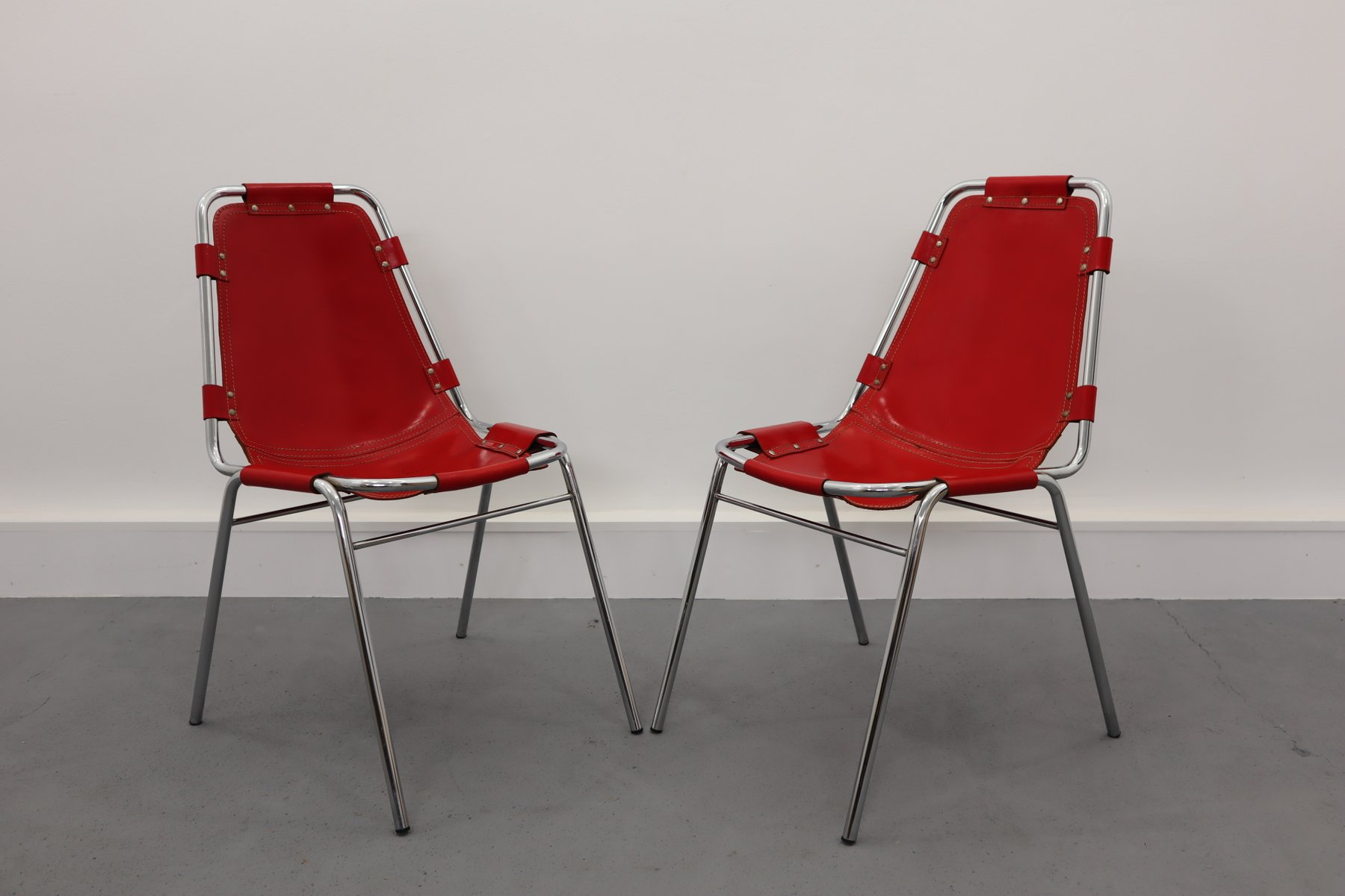 Chaises de salle manger les arcs vintage par charlotte perriand pour dal vera 1960s set de 2 - Salle de bain charlotte perriand ...