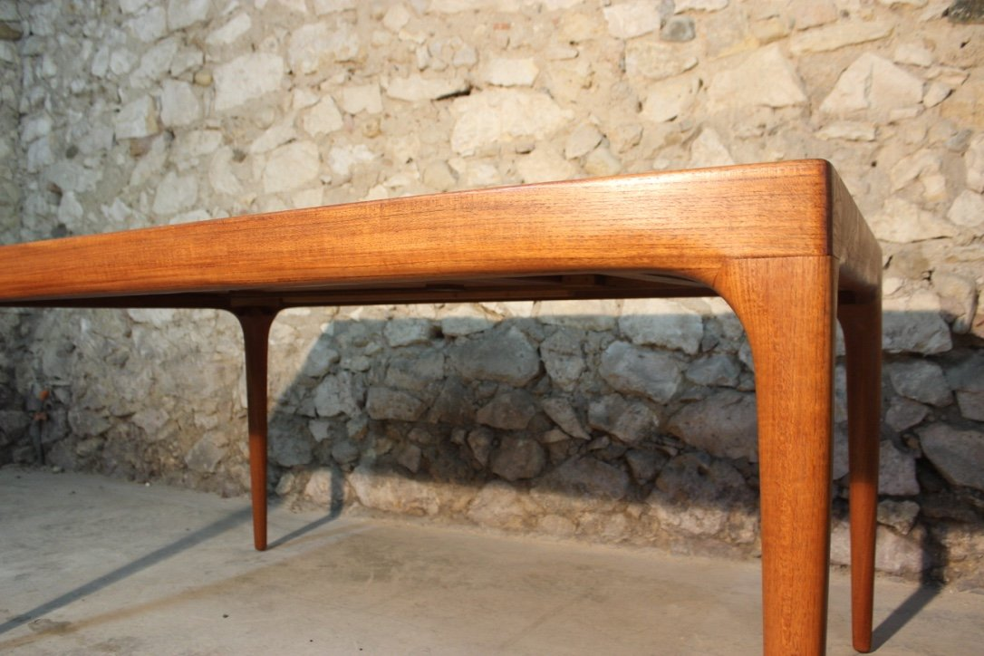 Vintage Danish Teak Extendable Dining Table By Johannes