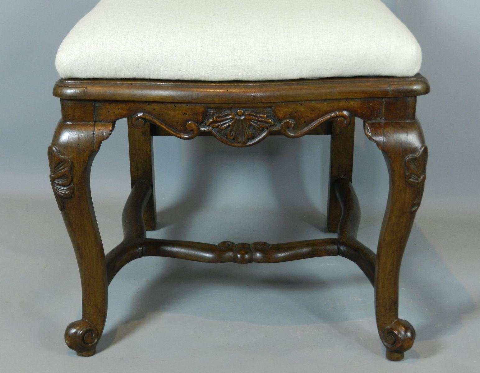 Antike Europäische Queen Anne Stühle Aus Nussholz 4er